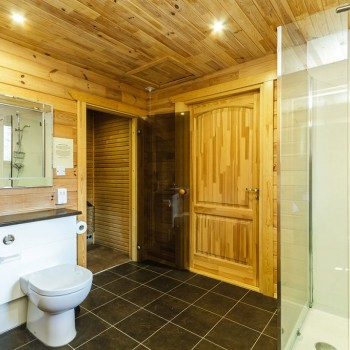 Accommodation - Luxury Lodges with Hot Tubs - 1 bedroom lodges - bathroom with sauna