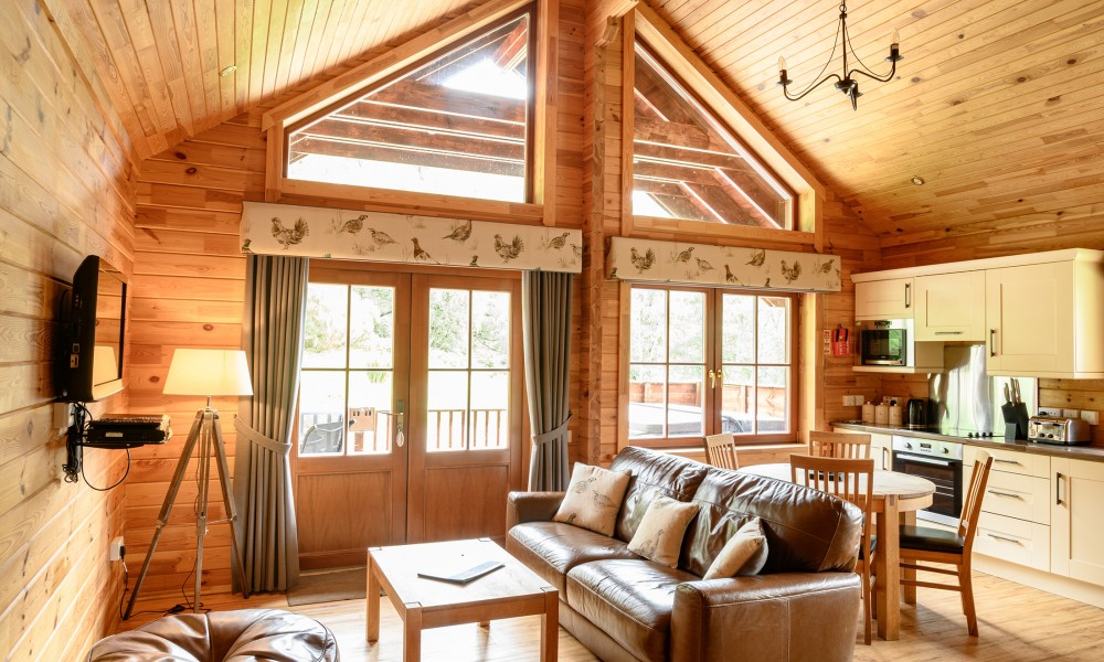 Accommodation - Luxury Lodges with Hot Tubs - 1 bedroom lodges - living area
