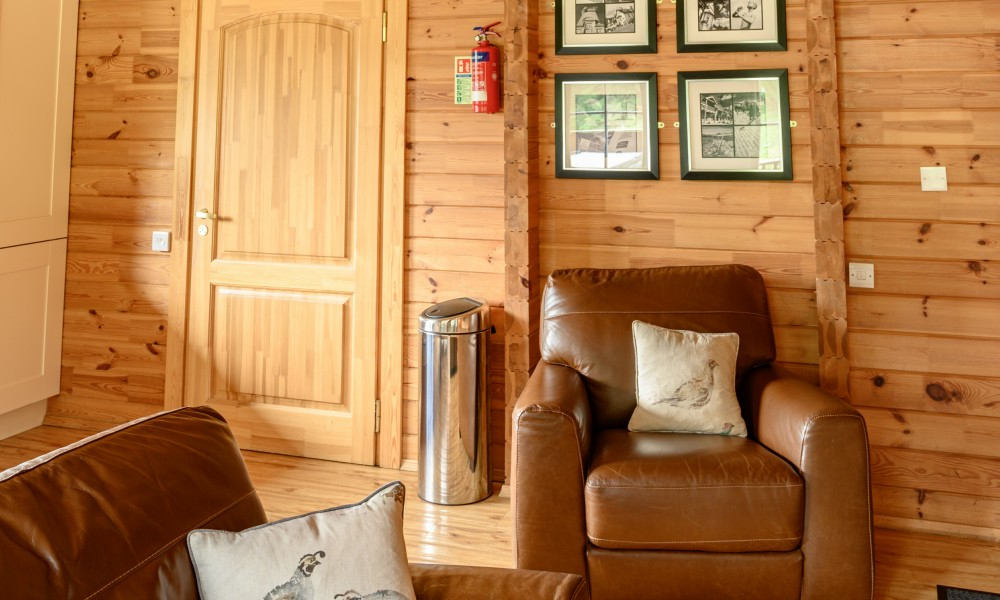 Accommodation - Luxury Lodges with Hot Tubs - 1 bedroom lodges living area