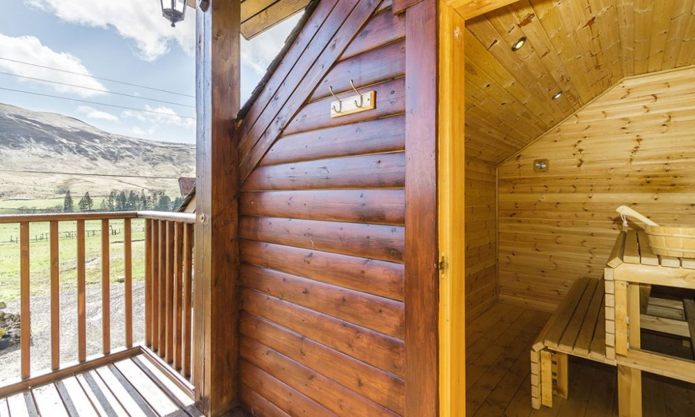 Accommodation - Luxury Lodges with Hot Tubs - 3 bedroom lodge Sauna